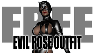Evil Rose Outfit for Genesis 2 Female