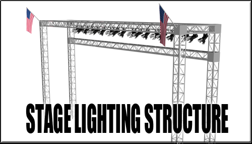Stage Lighting Structure For DAZ Studio by sedartonfokcaj