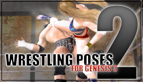 Genesis 3 Wrestling Pose Pack #2 by sedartonfokcaj