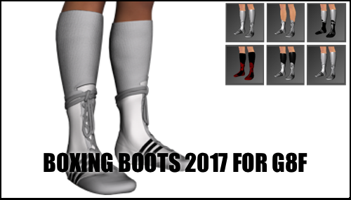 Boxing Boots for Genesis 8 Female (Corrected) by sedartonfokcaj