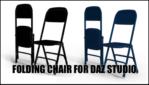 Folding Chair for DAZ Studio by sedartonfokcaj