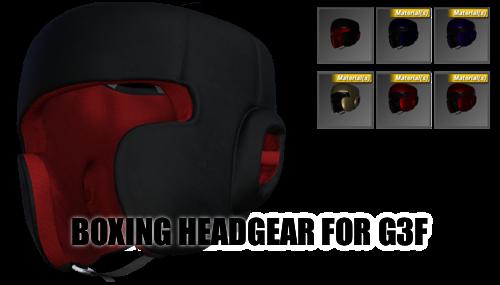 Boxing Headgear (2017) for Genesis 3 Female by sedartonfokcaj