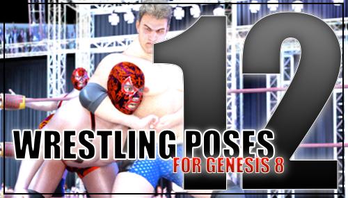 Genesis 8 Wrestling Pose Pack #012 by sedartonfokcaj