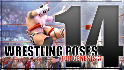Genesis 3 Wrestling Pose Pack #14 by sedartonfokcaj
