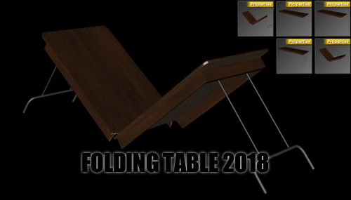 Folding Table 2018 for DAZ Studio