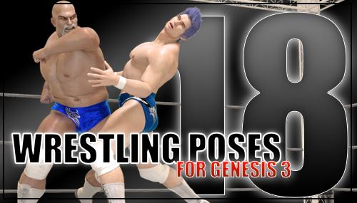 Genesis 3 Wrestling Pose Pack #18 by sedartonfokcaj