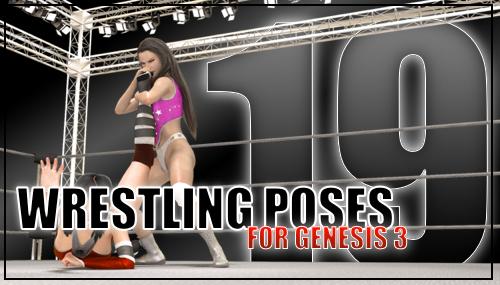 Genesis 3 Wrestling Pose Pack #19 (Update) by sedartonfokcaj