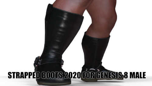 Strapped Wrestling Boots 2020 for Genesis 8 Male
