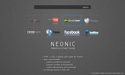 NEONIC - Firefox start page