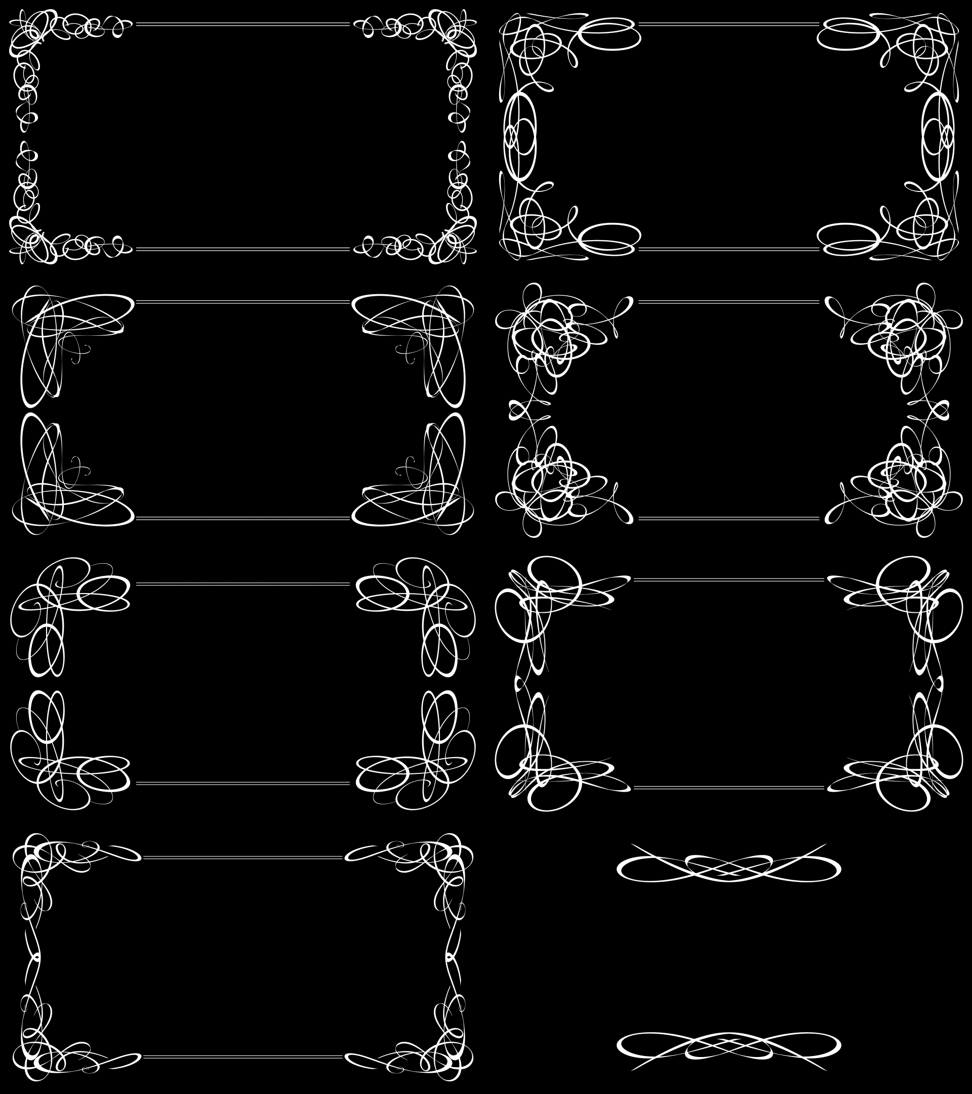silent movie title card templates set of 8 by. Black Bedroom Furniture Sets. Home Design Ideas