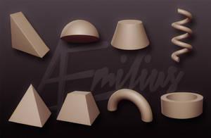 Extra primitives for Sculptris 2
