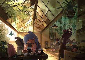 Little Witch : Breakfast by mariposa-nocturna