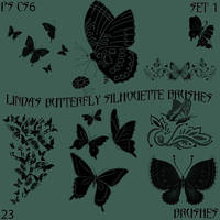 Linda's Butterfly Silhouette Brushes Set 1