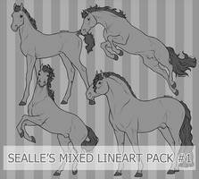 Sealle's Mixed Lineart Pack#1