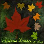 Autumn leaves brushes for Gimp