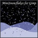 Mini-snowflakes brushes for Gimp