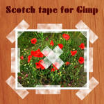 Scotch tape brushes for Gimp