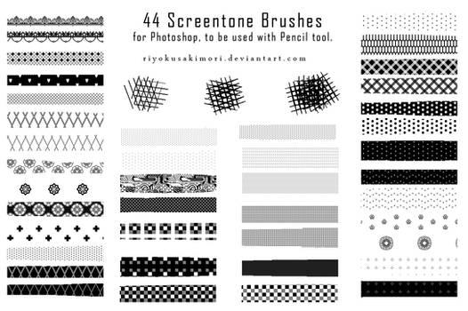44 Pixel Screentone Brushes