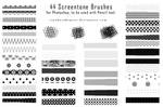 44 Pixel Screentone Brushes