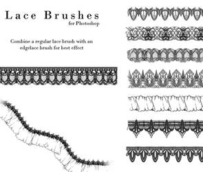 Lace Brushes by Nyanfood