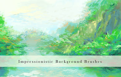 Impressionistic Background Brushes