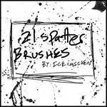 21 Spatter Brushes