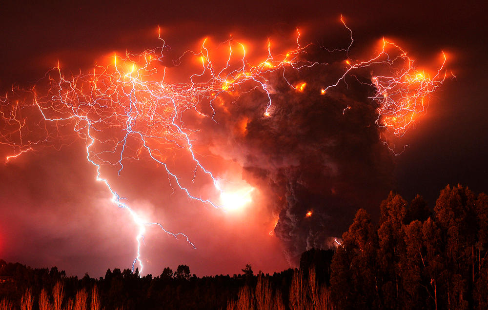 Chile Volcano Lightning by BlueB52