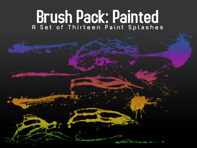 Paint Splash Brushes - 13 by PerpetualStudios