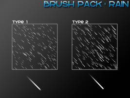 Rain - 4 Brushes by PerpetualStudios