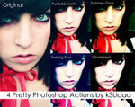 4 Pretty Photoshop Actions