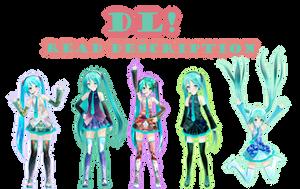 Texture Miku's DL! by DIBUJOSLOVE