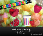 rainbow candy - png