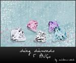 shiny diamonds - png