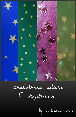 christmas stars textures by rainbows-stock