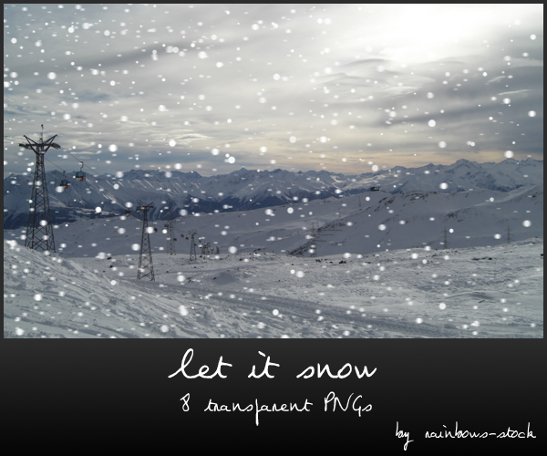 let it snow - transparent png
