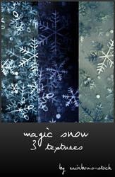 magic snow textures by rainbows-stock