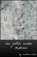 ice cold water textures by rainbows-stock