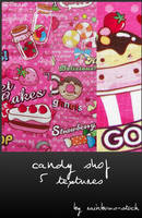 candy shop textures by rainbows-stock