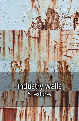 industry walls textures by rainbows-stock
