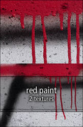 red paint textures