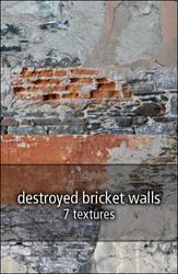 destroyed bricket walls