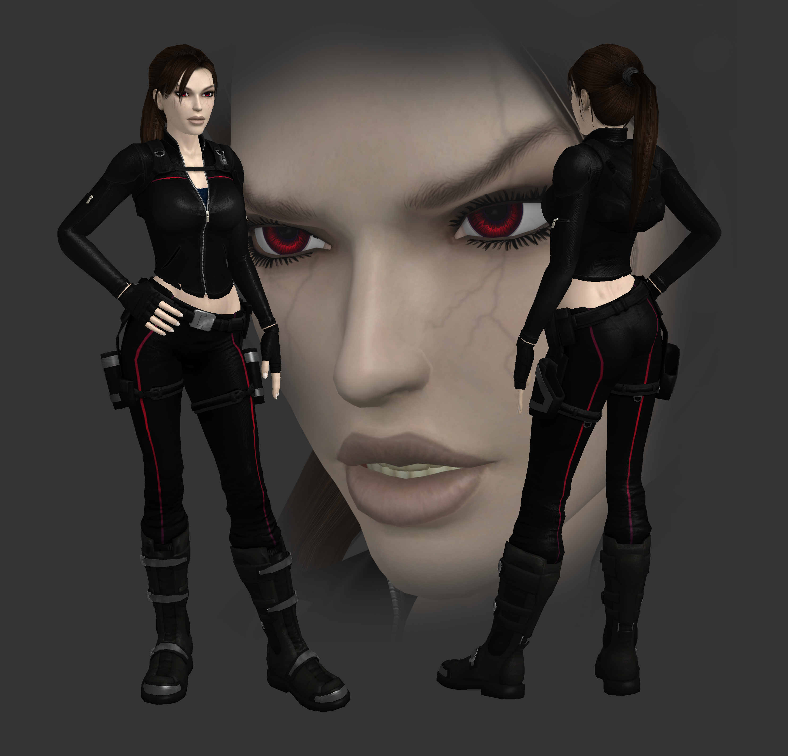 3d Tomb Raider Wallpaper: Lara Croft Vampire Version By Spuros12 By Spuros12 On