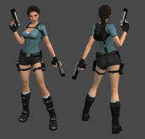 Lara Croft Jungle Outfit by spuros12 by spuros12