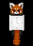 Red Panda Clock Animated