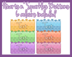 [Pixel] Hearts n' Sparkles Buttons by DazzlingEnd