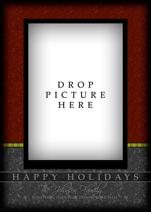 Holiday Card Template 3c by gonzalu on DeviantArt – Holiday Card Template