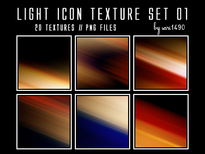 Light Icon Texture Set 01 by sari1490
