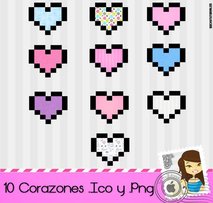 Corazones .Ico y Png byy Sochy by Tutoriales-Sochy