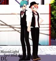 MMD Moonlight Ai and Syo UtaPri DL [Down] by ZKArti