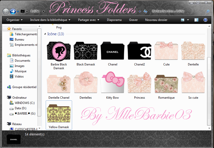 Princess Fashion Folders - Icons by mllebarbie03